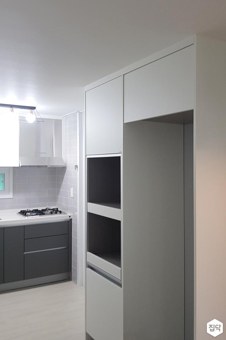 주방,화이트,그레이,심플,냉장고장