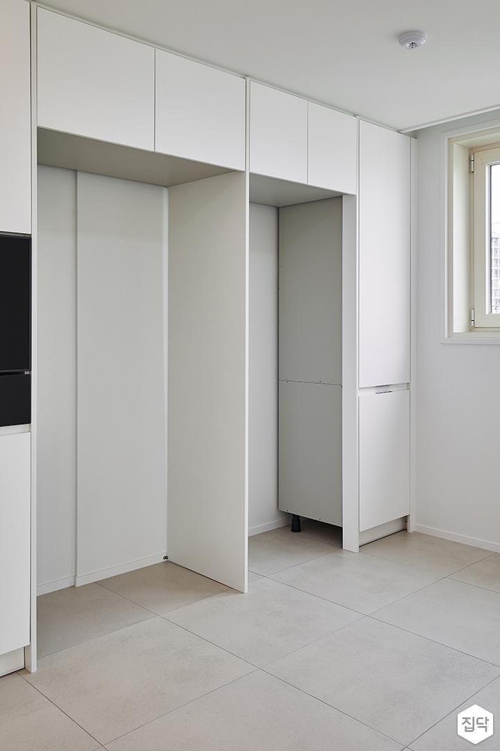 주방,화이트,모던,냉장고장,수납장