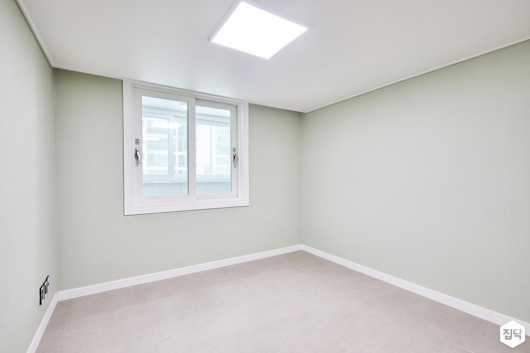 방,심플,샤시,벽지,그린