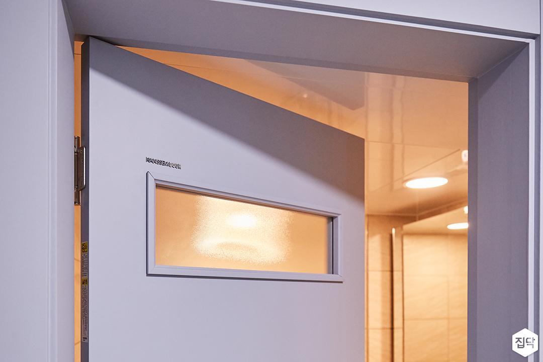 욕실문,스카이블루,유리타공
