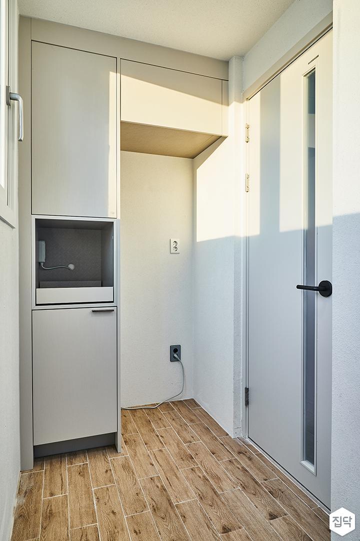 다용도실,모던,심플,화이트,냉장고장,붙박이장