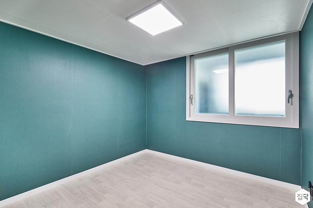 그린,방,심플,벽지