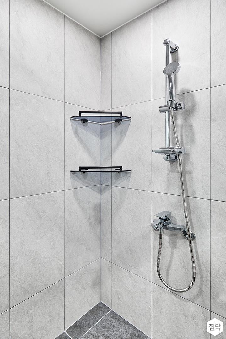 코너선반,샤워기,그레이