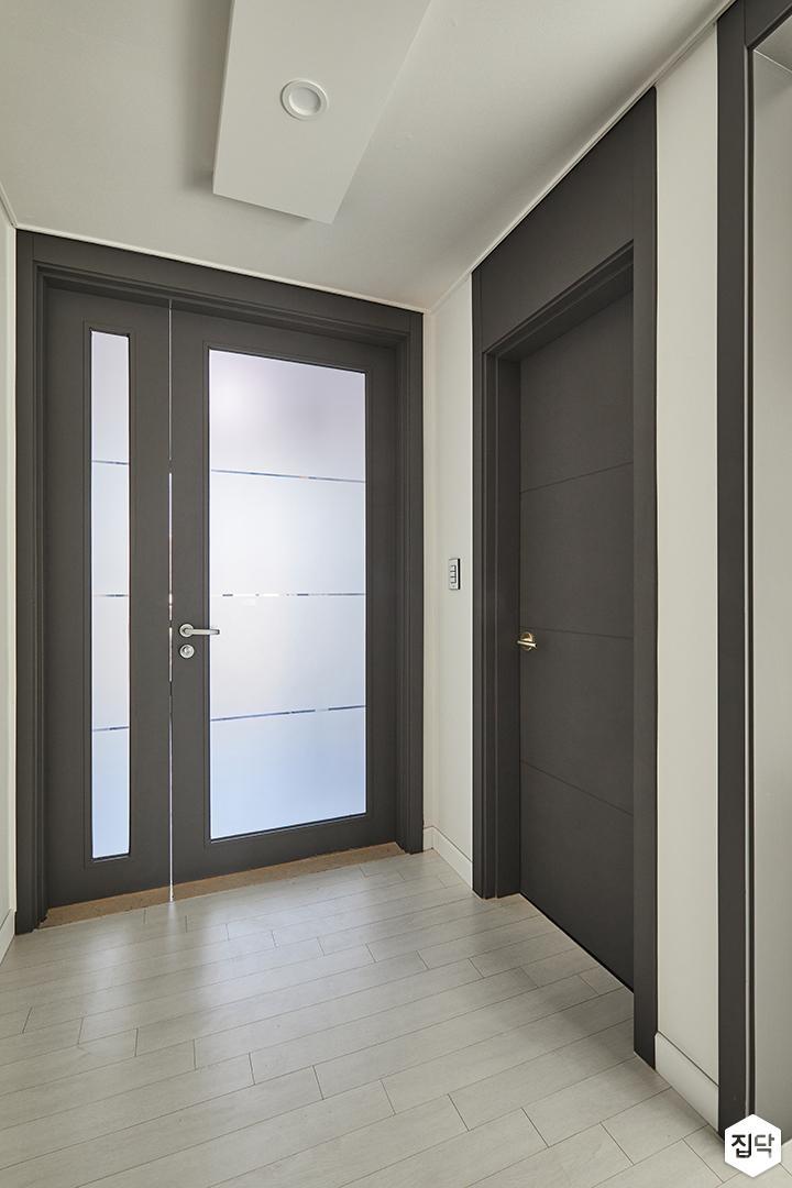 복도,현관,중문,인테리어필름,여닫이중문
