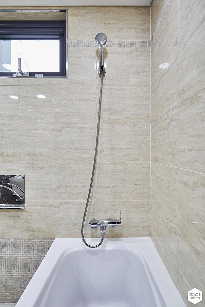 욕실,욕조,베이지,샤워기