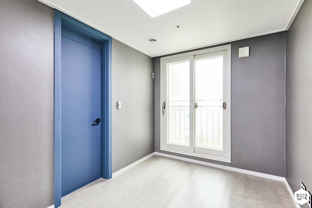 그레이,블루,방,모던,벽지,인테리어필름