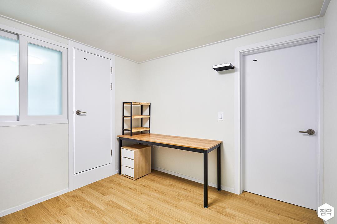 방,무지주선반,화이트,내츄럴,책상