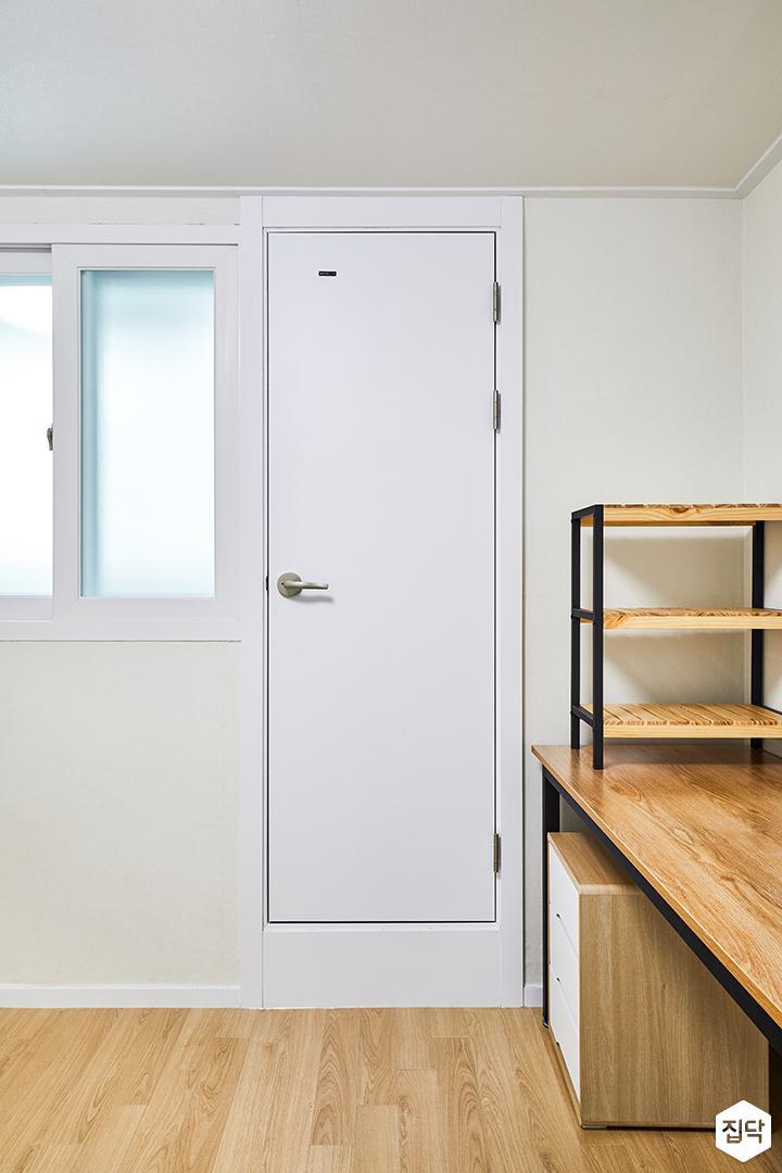 방,화이트,내츄럴,책상,방문,인테리어필름