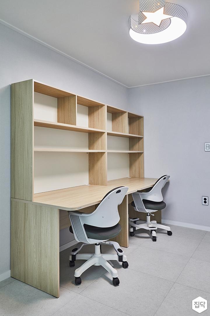 방,화이트,심플,아이방,맟춤가구,책상,LED조명