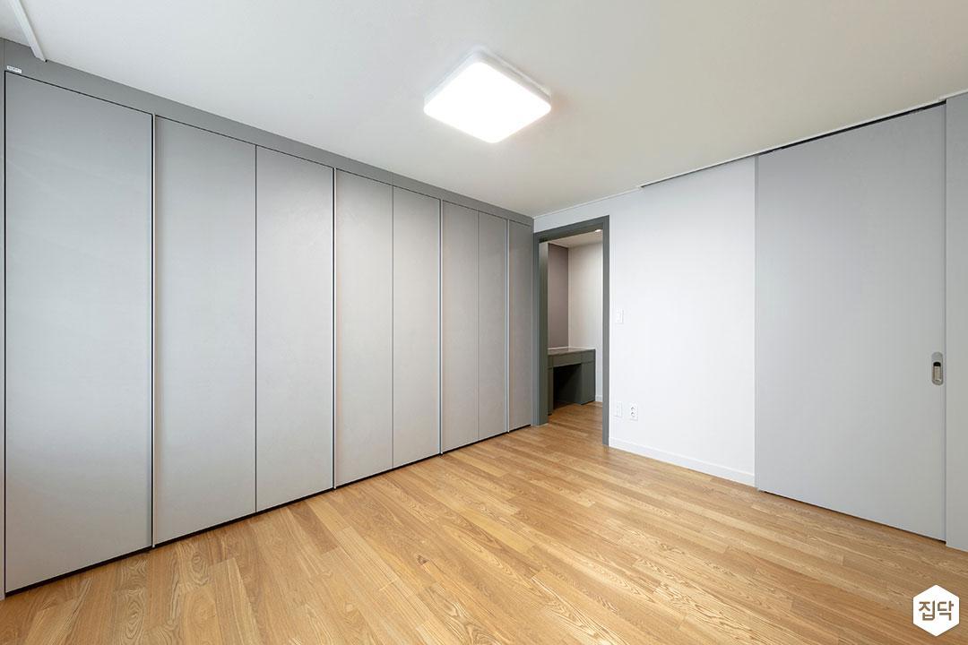 방,그레이,붙박이장,모던,심플,내츄럴,LED조명