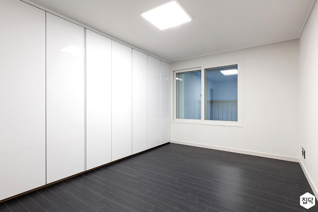 방,블랙,화이트,led조명,붙박이장