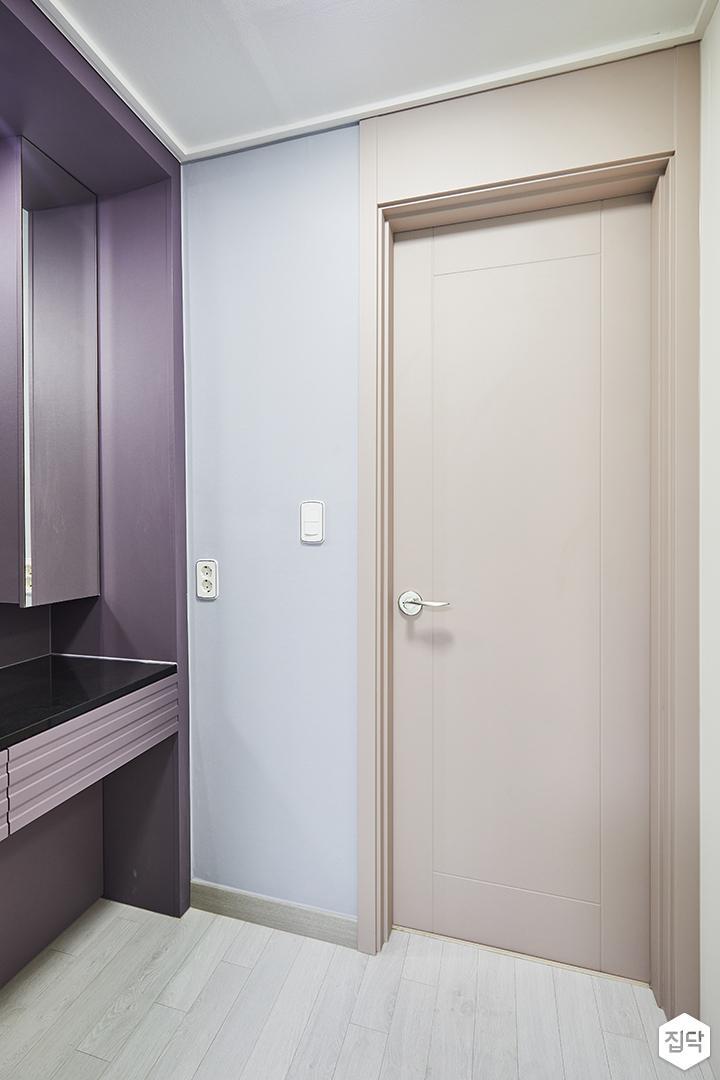 블루,핑크,심플,모던,방문,파우더룸