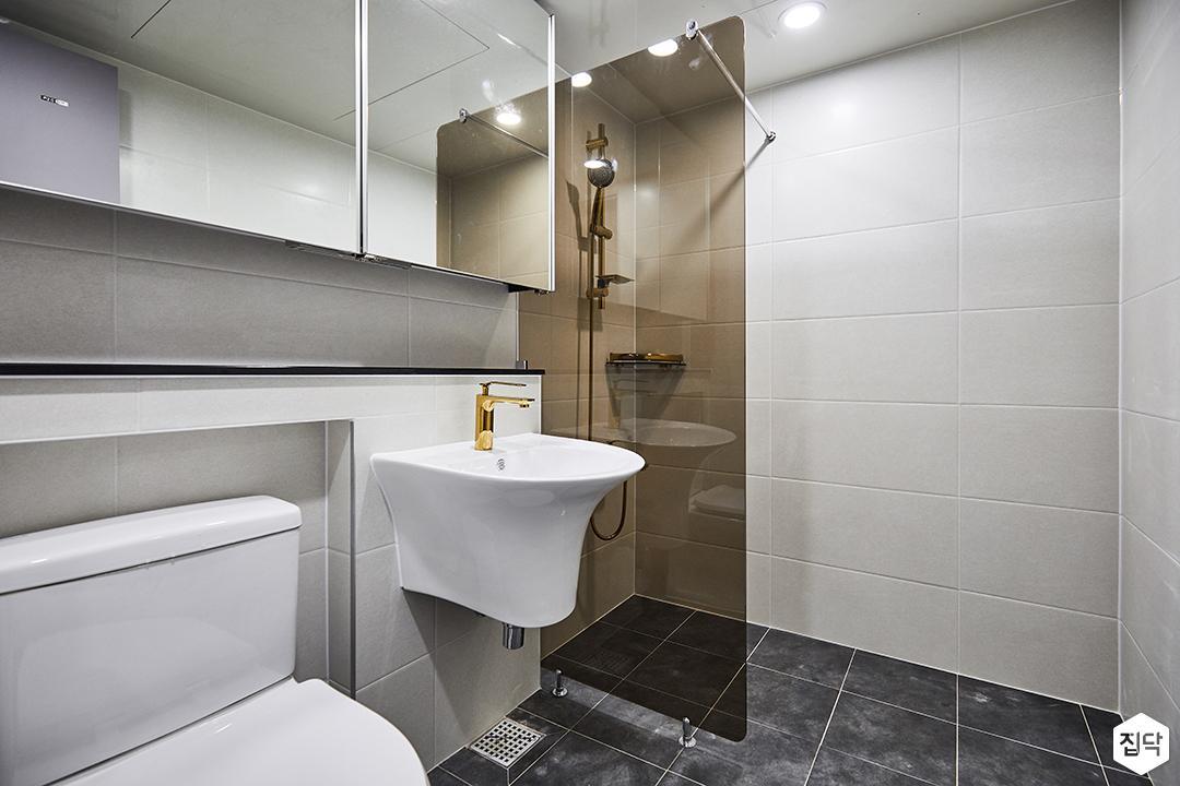 화이트,심플,모던,슬라이딩거울,수납장,세면대,화장실