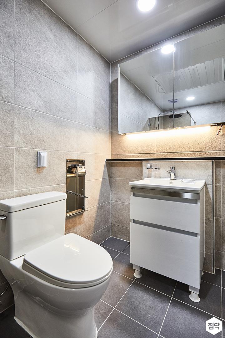 욕실,그레이,간접조명,하부장,세면대,영변기