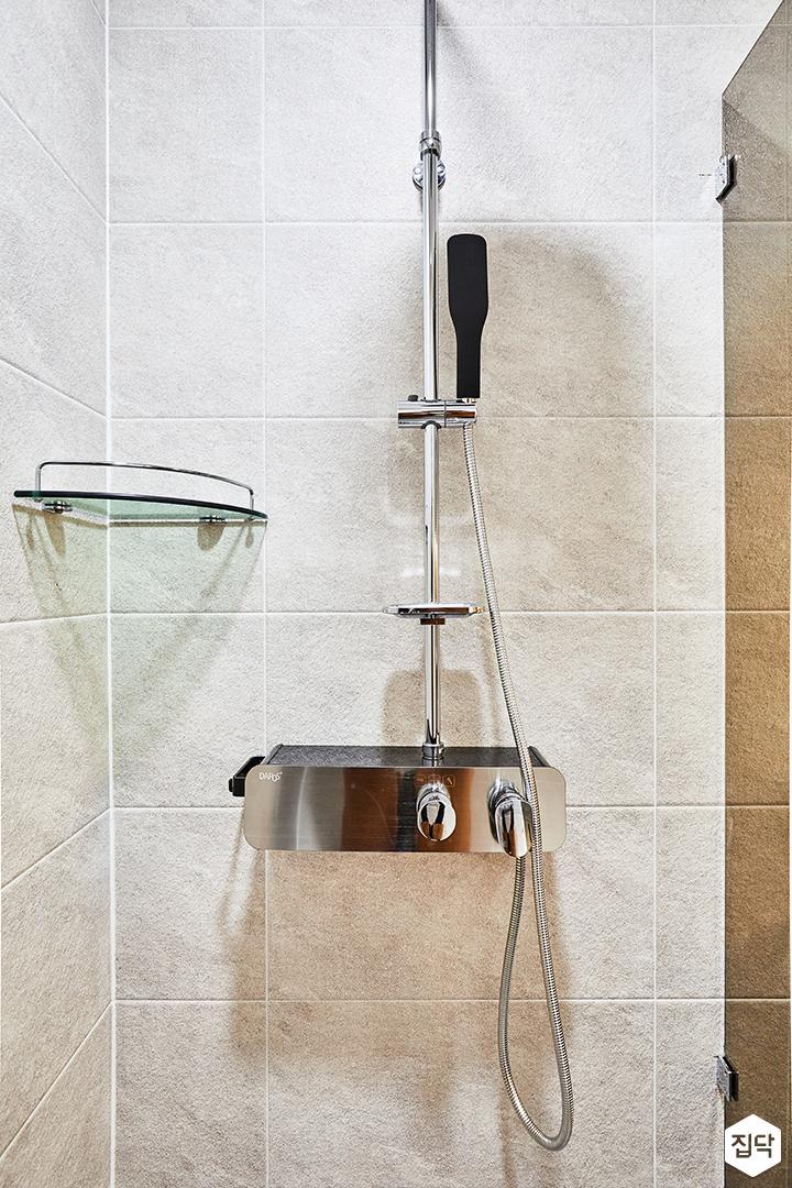 샤워부스,해바라기샤워기,코너선반,그레이