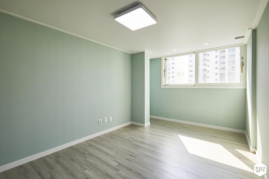 방,모던,심플,그린,화이트,우드,LED조명