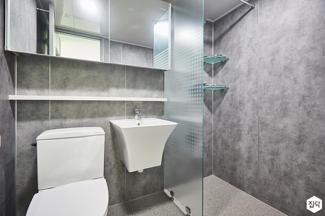그레이,심플,모던,슬라이딩거울,세면대,화장실
