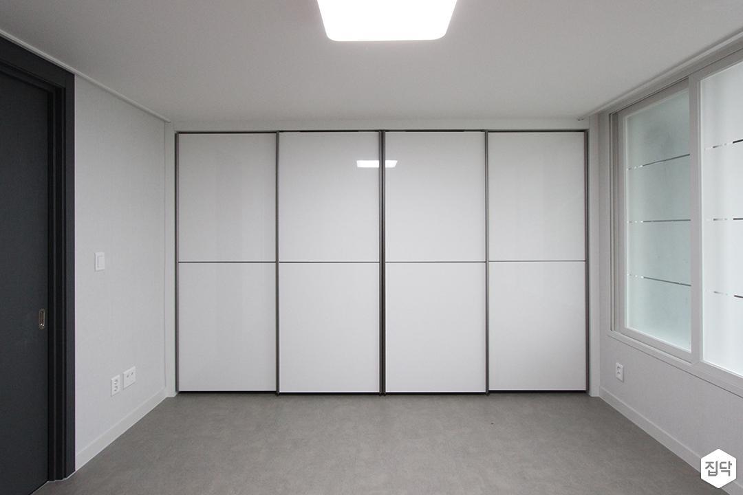 방,붙박이장,슬라이딩장,화이트,심플