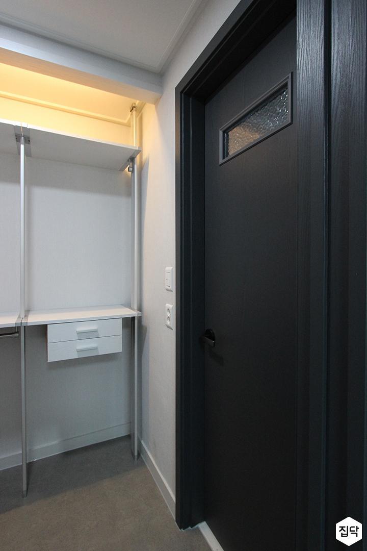 욕실문,블랙,인테리어필름