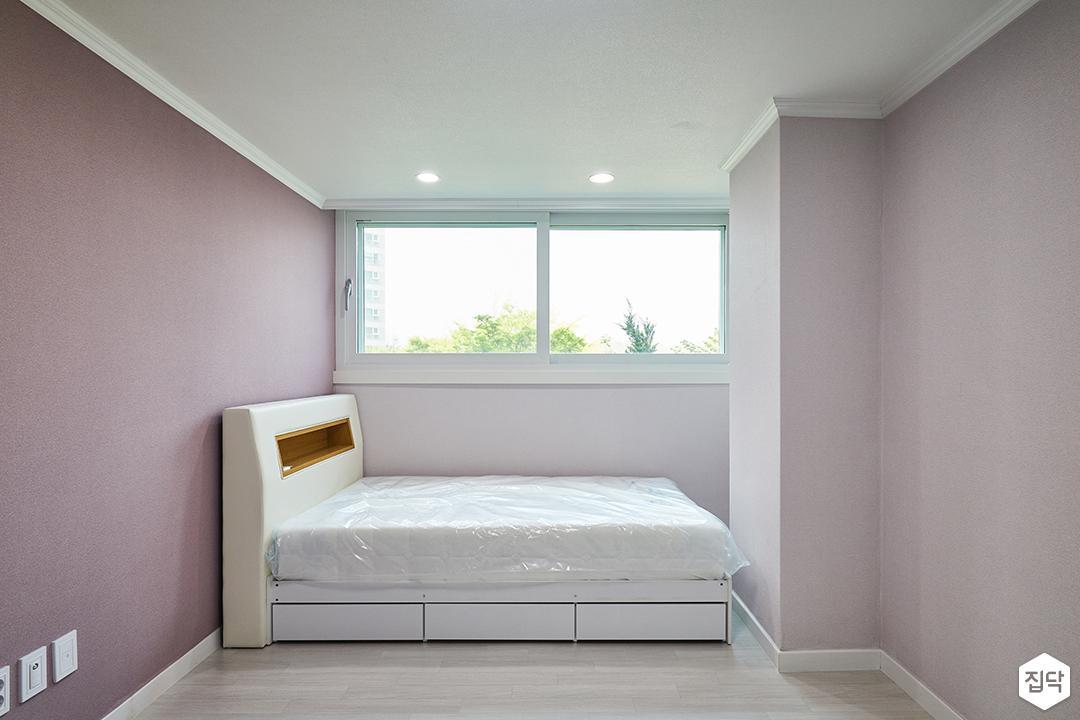방,모던,심플,화이트,핑크