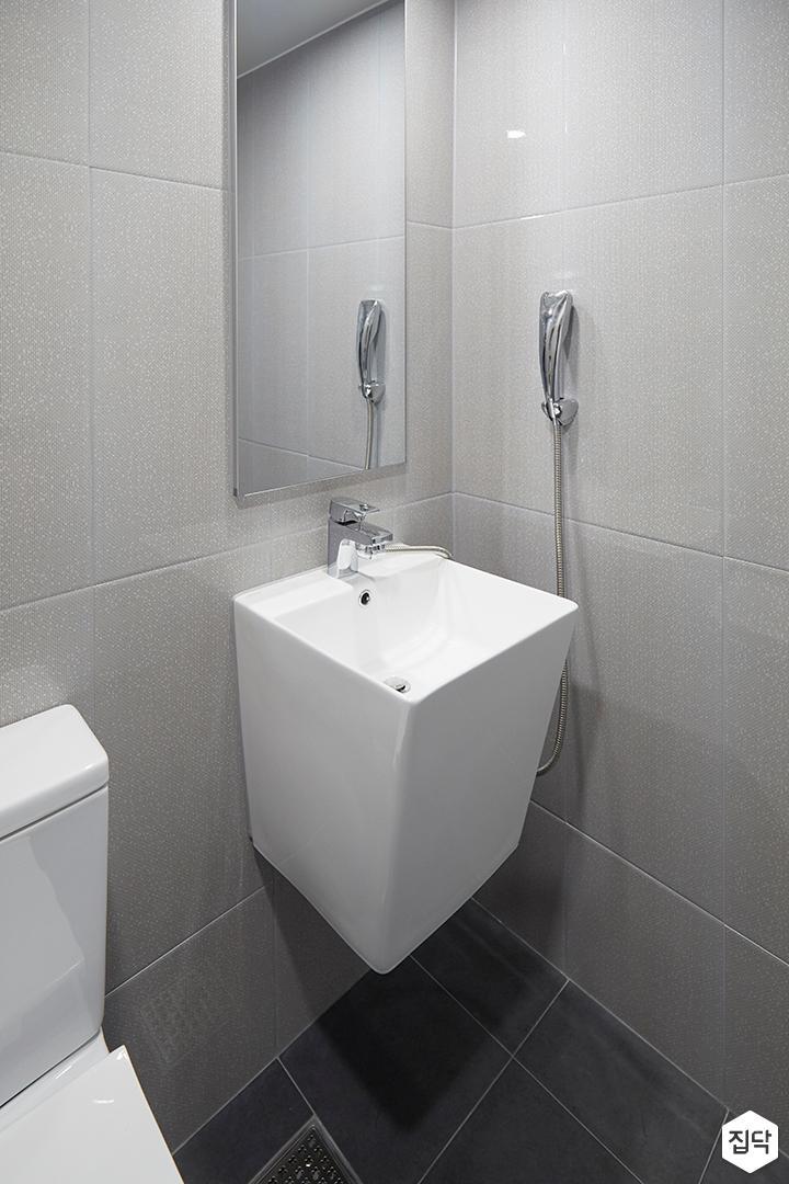 욕실,심플,그레이,세면대