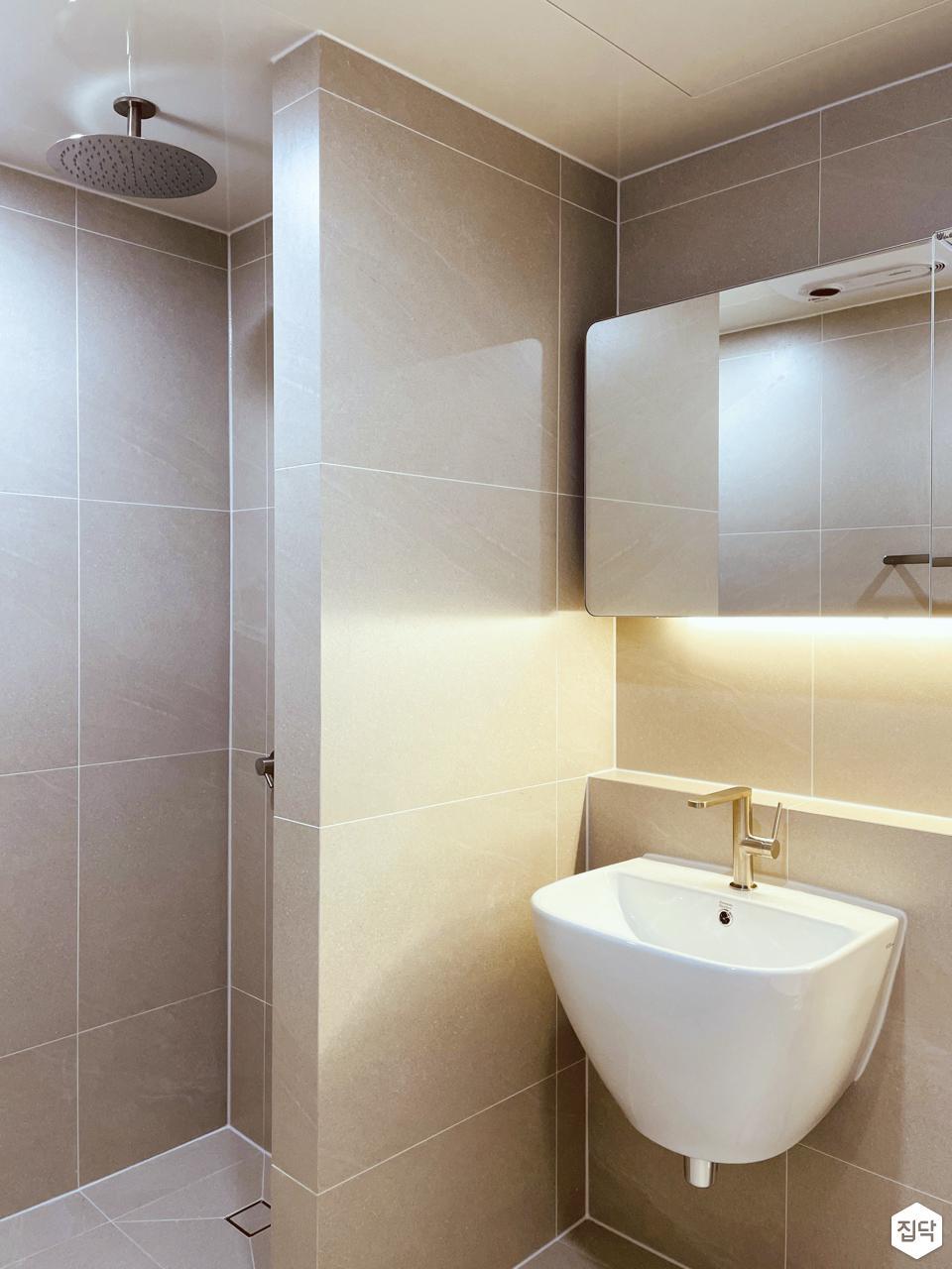 수전,샤워기,간접조명,욕실,미니멀