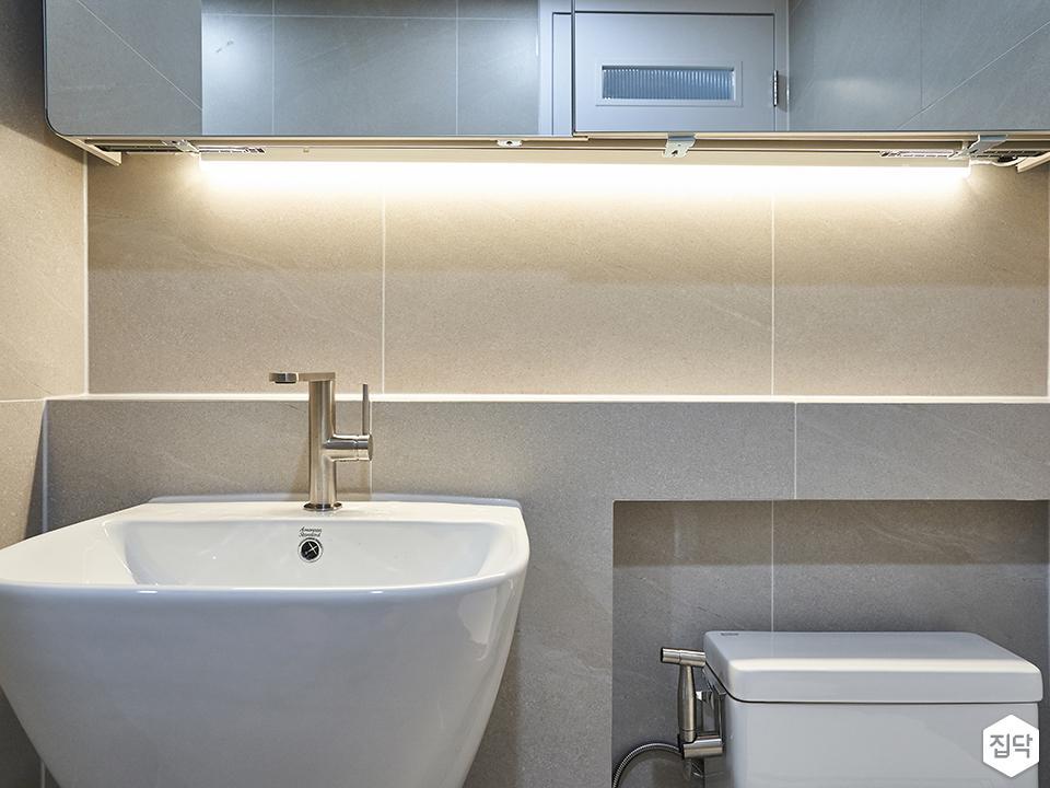 욕실,포세린,거울,세면대