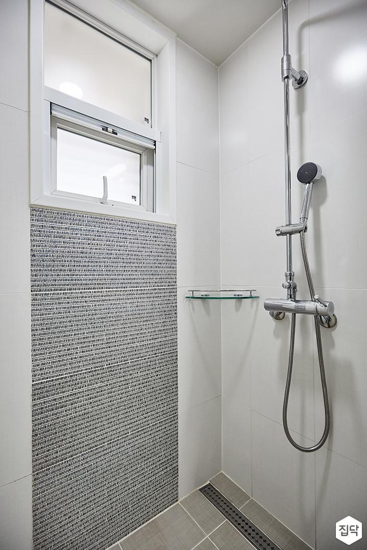 화이트,그레이,모던,심플,샤워기,코너선반,욕실