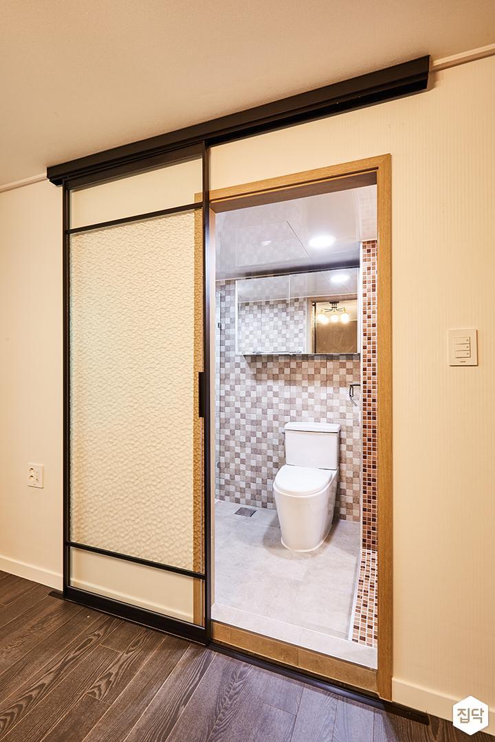 그레이,안방,안방화장실,슬라이딩도어