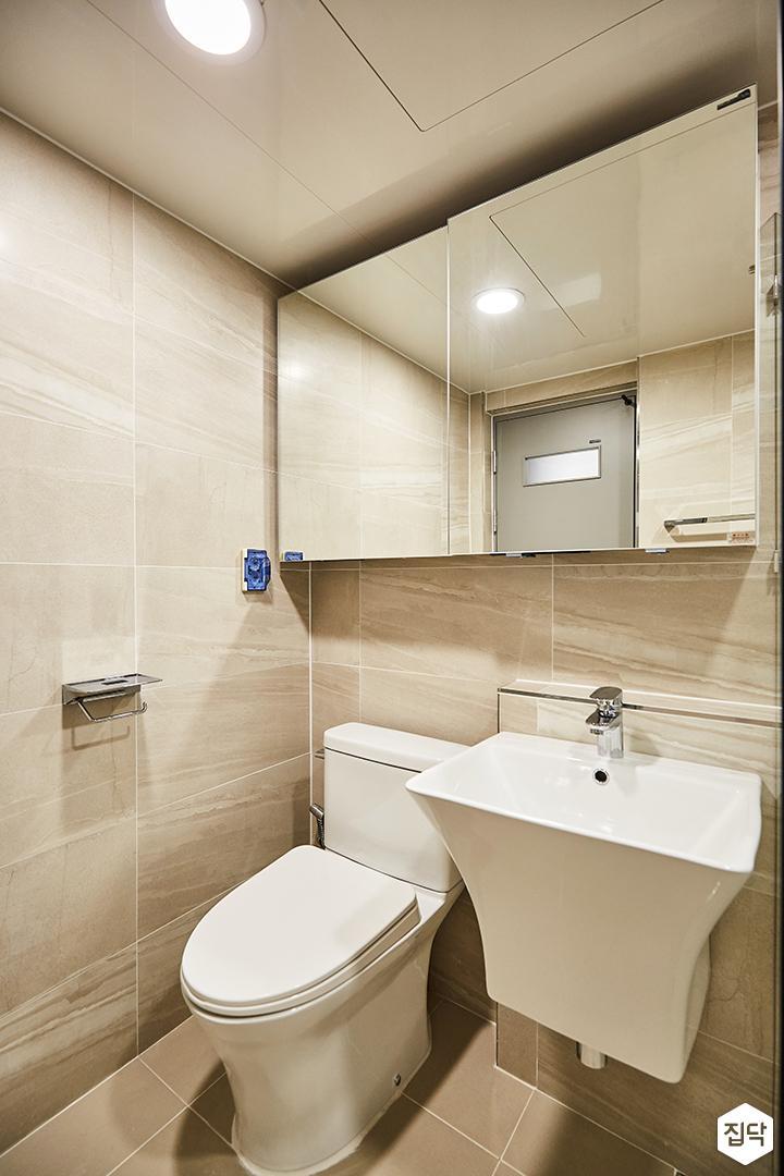 욕실,슬라이딩거울수납장,세면대
