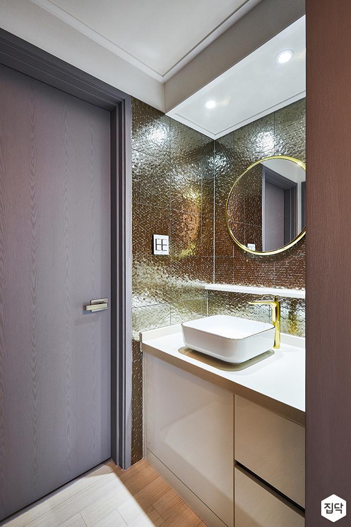 화이트,그레이,모던,심플,금장거울,세면대,화장실