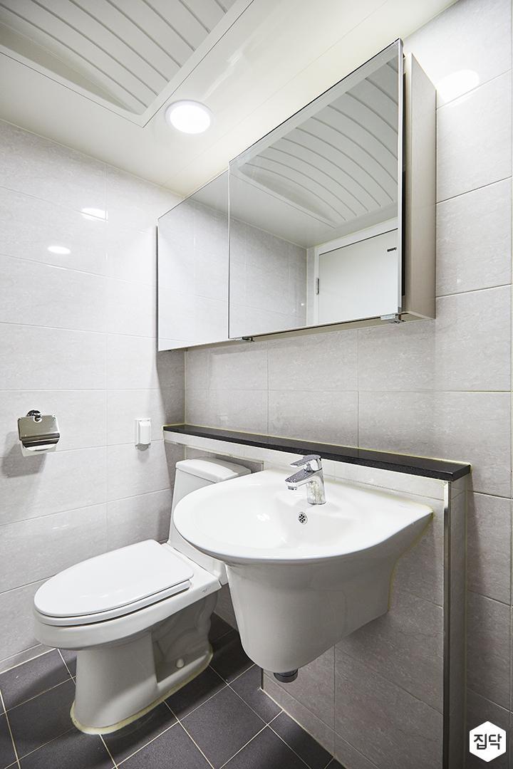 화이트,그레이,모던,심플,슬라이딩거울,세면대,화장실