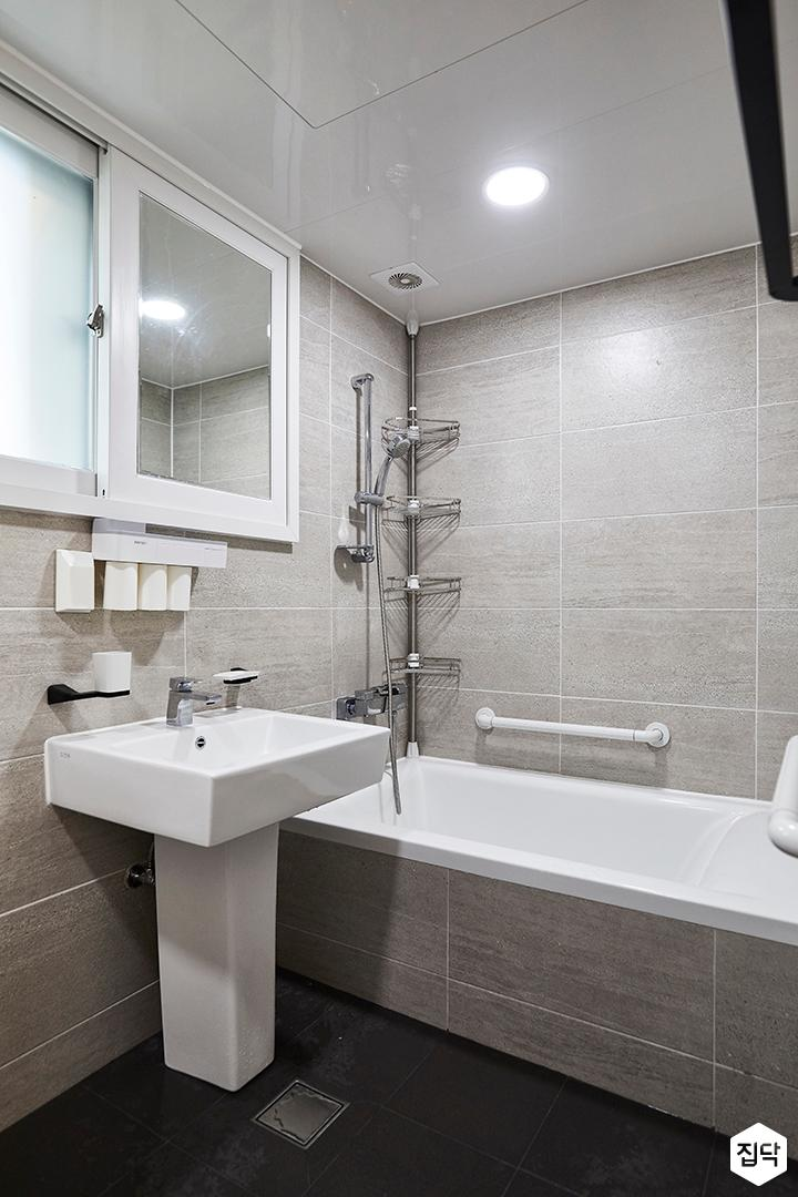 그레이,모던,심플,세면대,욕조,샤워기,욕실