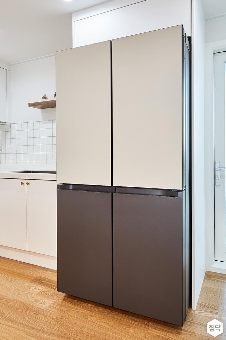 화이트,심플,내츄럴,냉장고장,주방