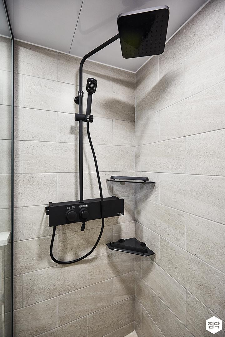 그레이,모던,심플,욕실,샤워기