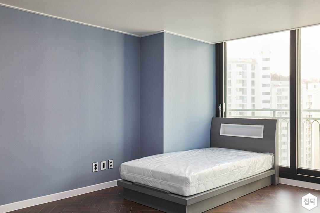 블루,모던,심플,방