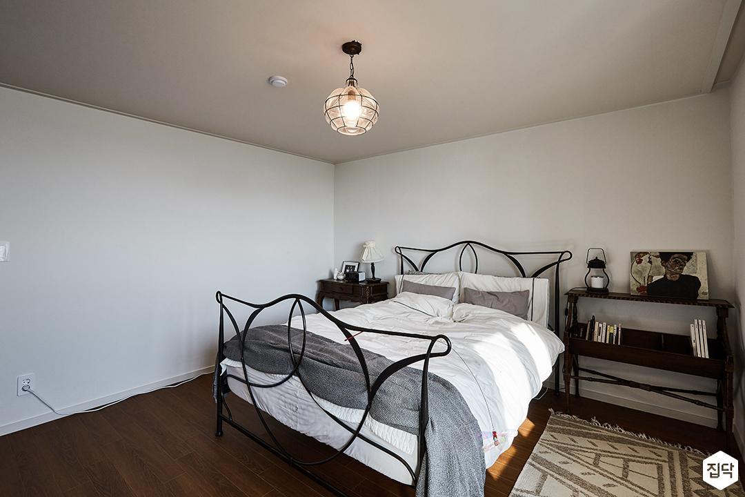 화이트,브라운,내츄럴,방,침실