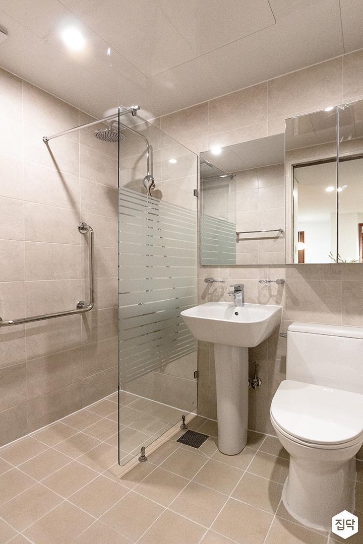 그레이,모던,심플,욕실,욕실수전,욕실가구,욕실조명