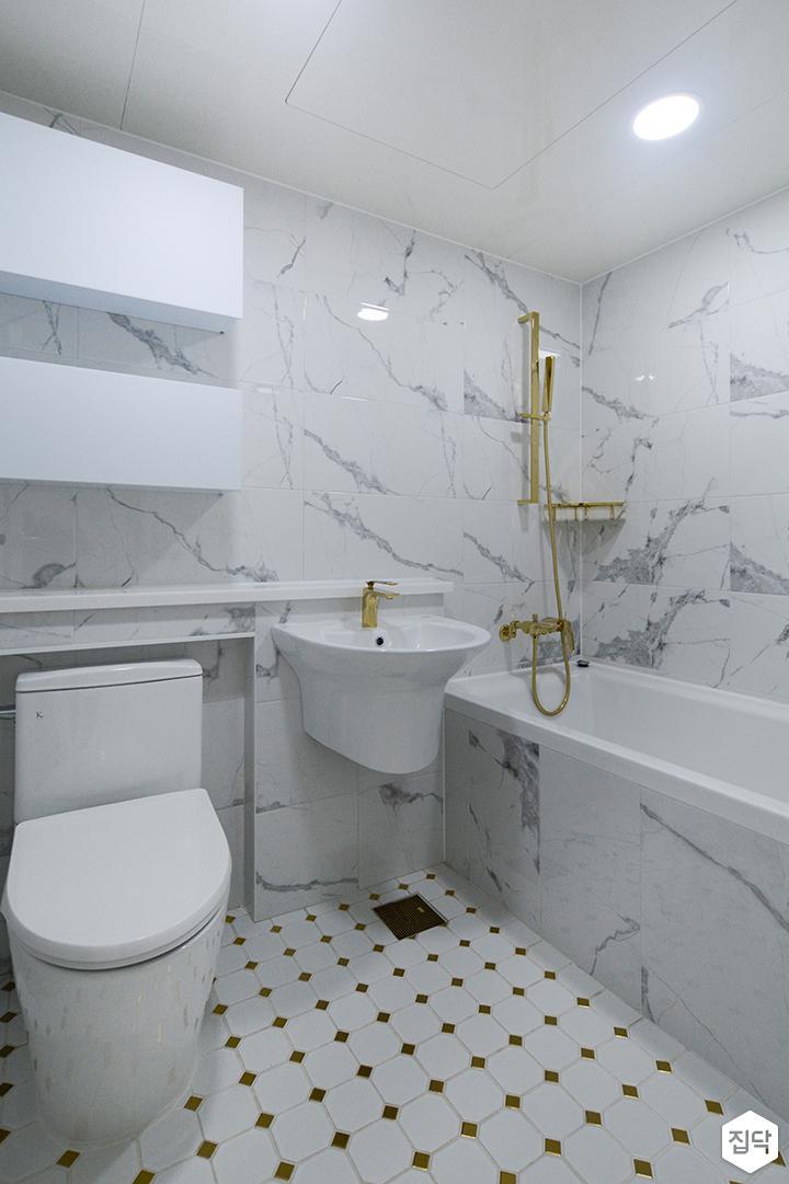 화이트,골드,럭셔리,욕실,욕실조명,욕실가구,욕조,세면대