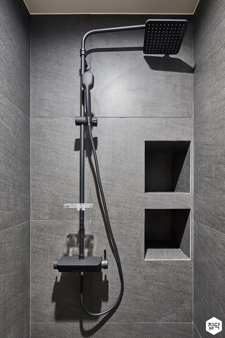 블랙,그레이,모던,심플,욕실,욕실조명,샤워기