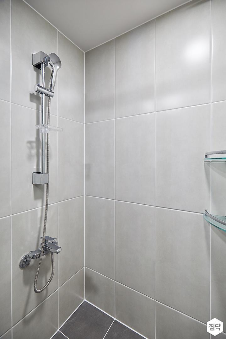화이트,그레이,모던,심플,욕실,샤워기