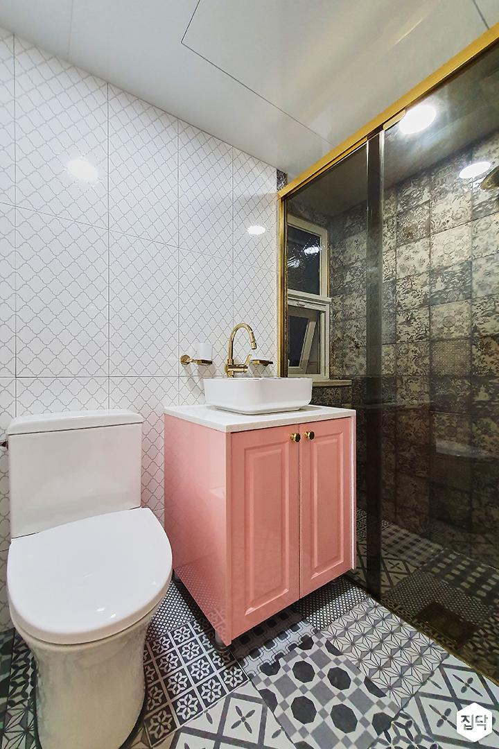 화이트,골드,클래식,욕실,세면대,조명