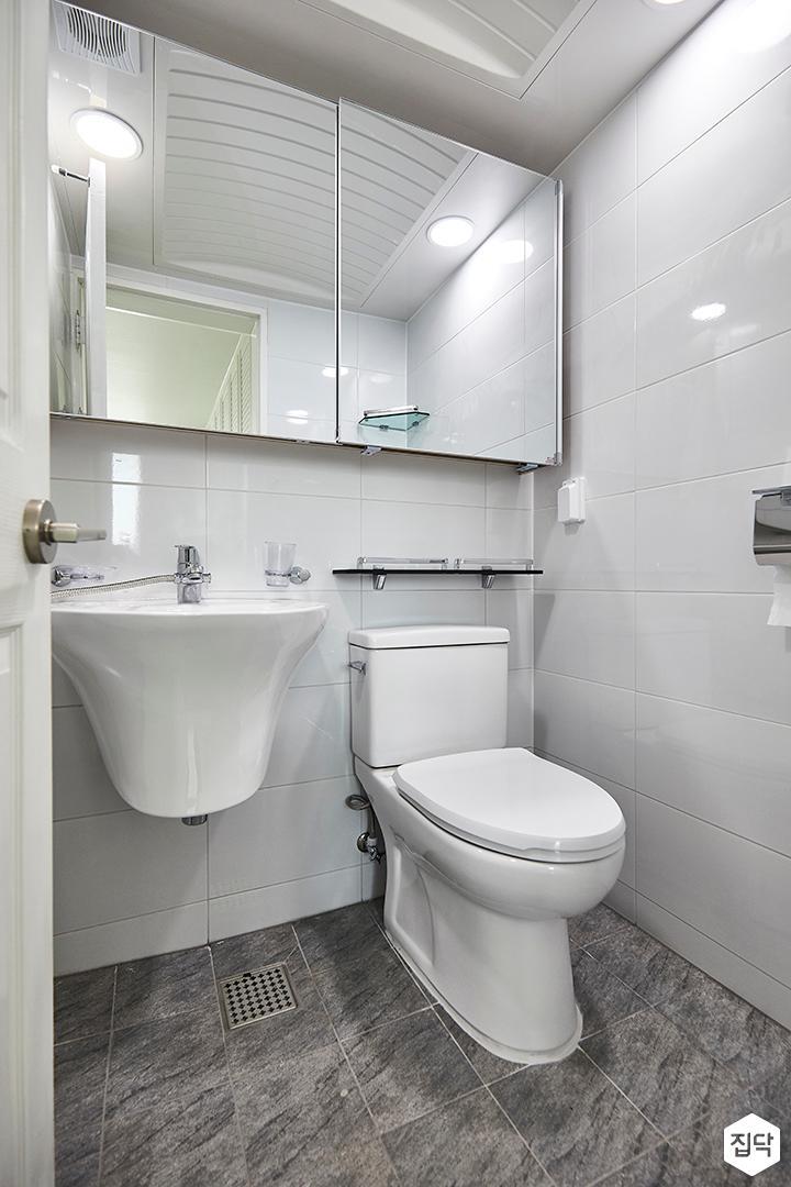 화이트,내추럴,욕실