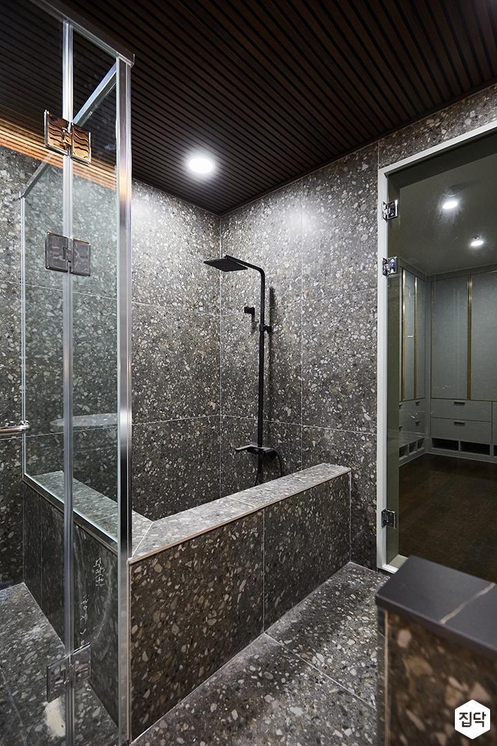 그레이,블랙,뉴클래식,욕실,대리석,패턴타일,샤워기