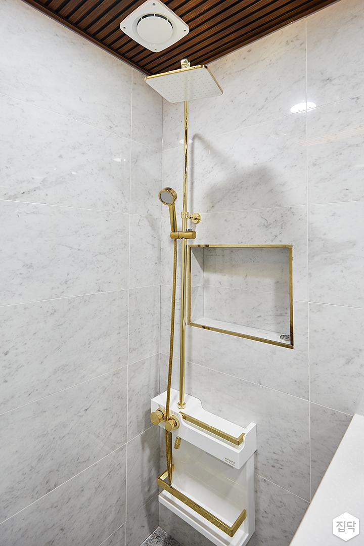 화이트,골드,럭셔리,욕실,대리석,샤워기,세면대