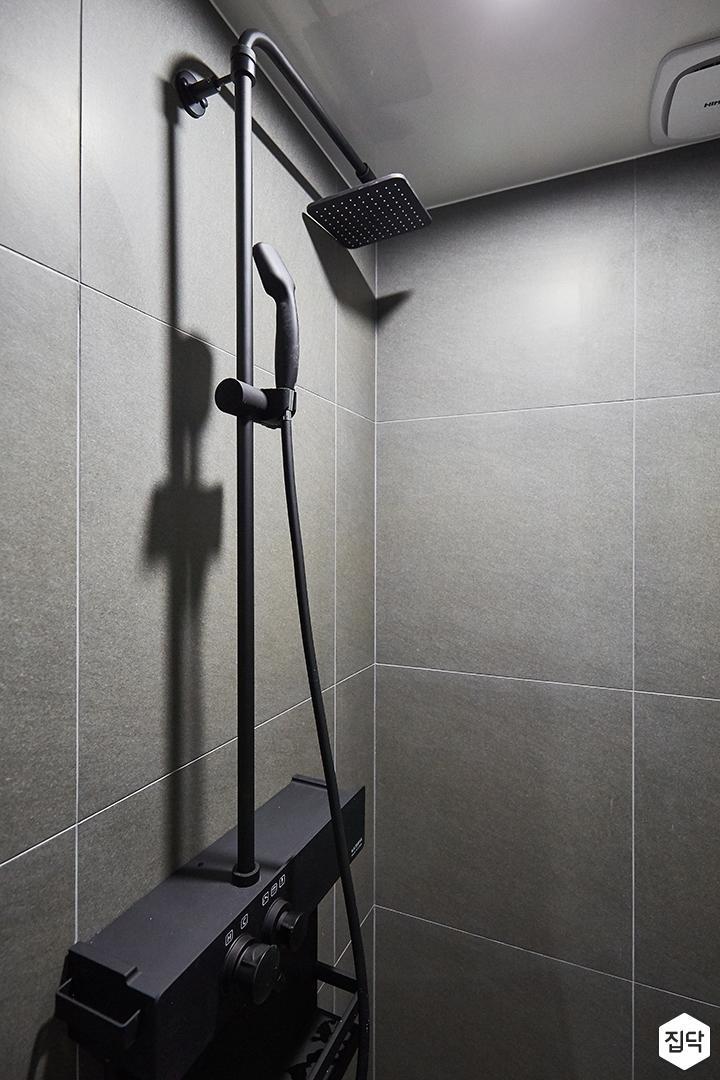 그레이,모던,욕실,포세린,샤워기
