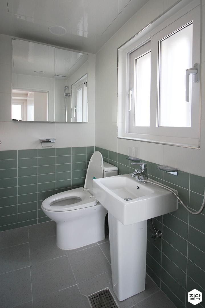 화이트,그린,모던,욕실,포세린,욕실타일,세면대