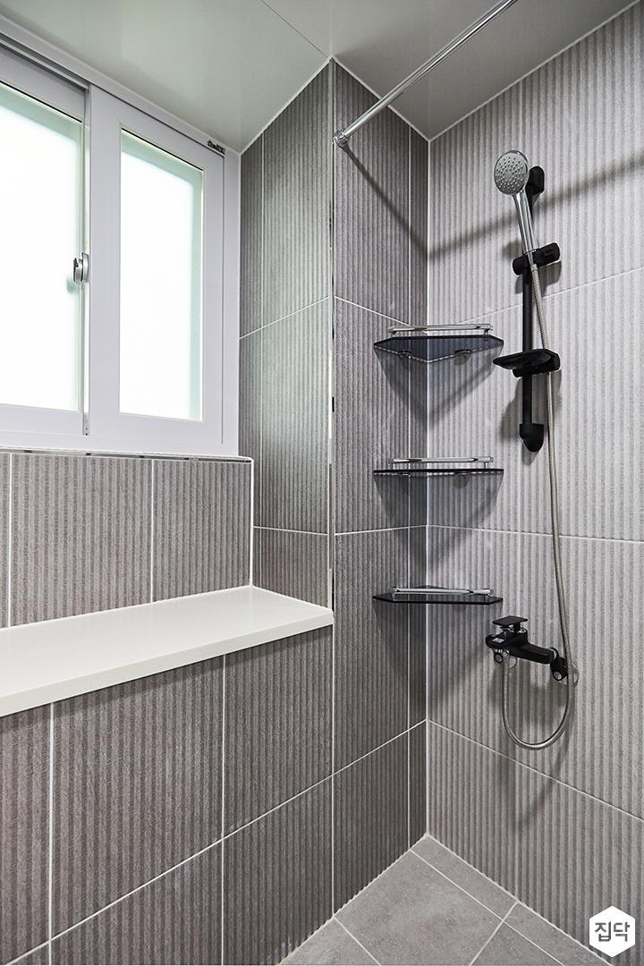 그레이,모던,심플,욕실,코너선반,샤워기