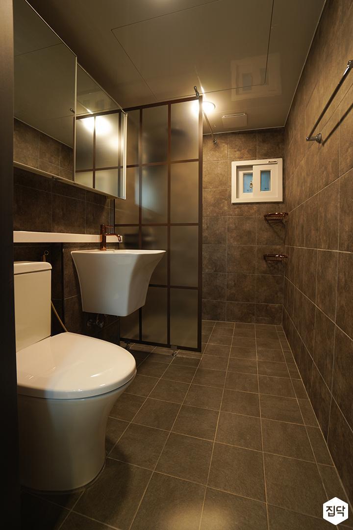 그레이,모던,욕실,포세린,선반,세면대,거울