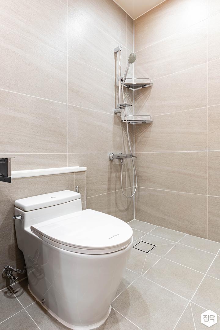 그레이,아이보리,모던,욕실,포세린,코너선반,샤워기